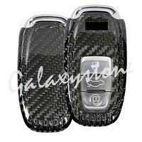 Carbon Fiber Auto Car Remote Key Case Cover Fit for Audi A3 A4 A5 A6 A7 A8 (3 Button)