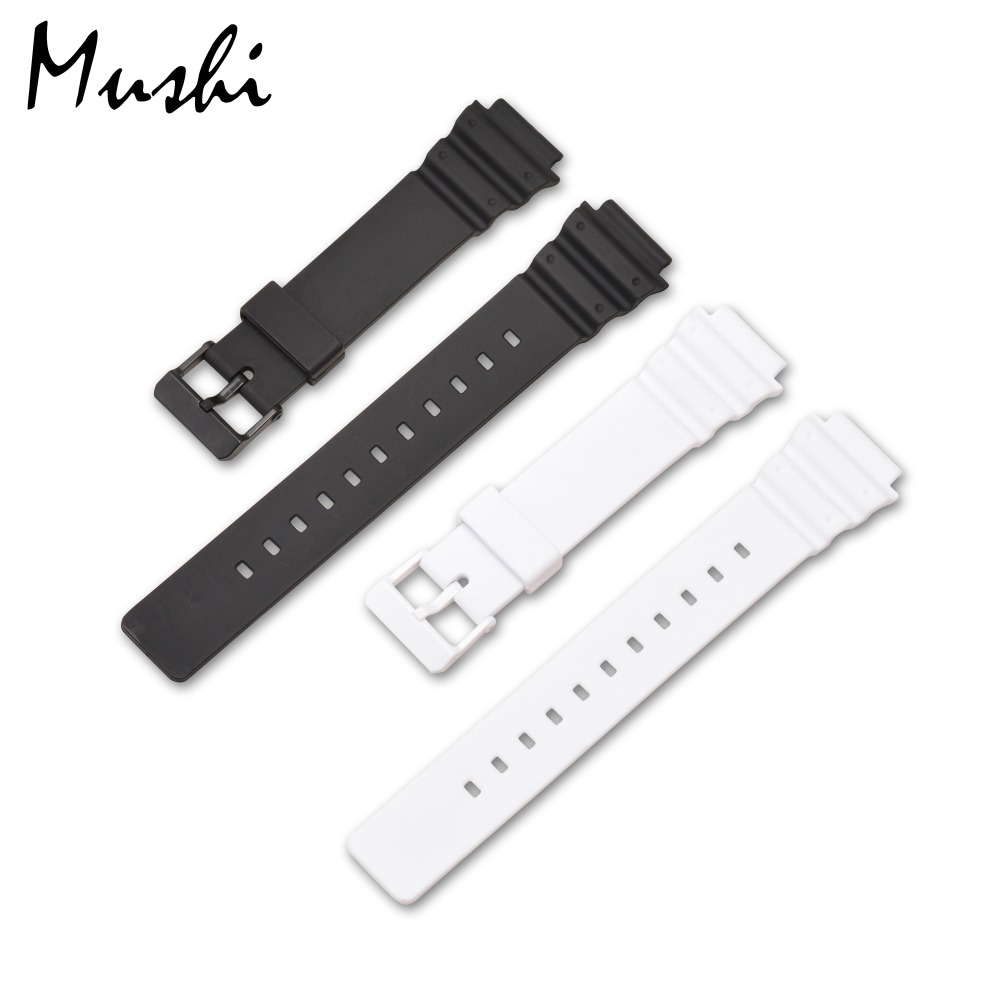 MS Watch Strap for Casio MRW-200H Black Men Watchband Pin Buckle Watch band Watch Case + Tool casio mrw 200h 2b