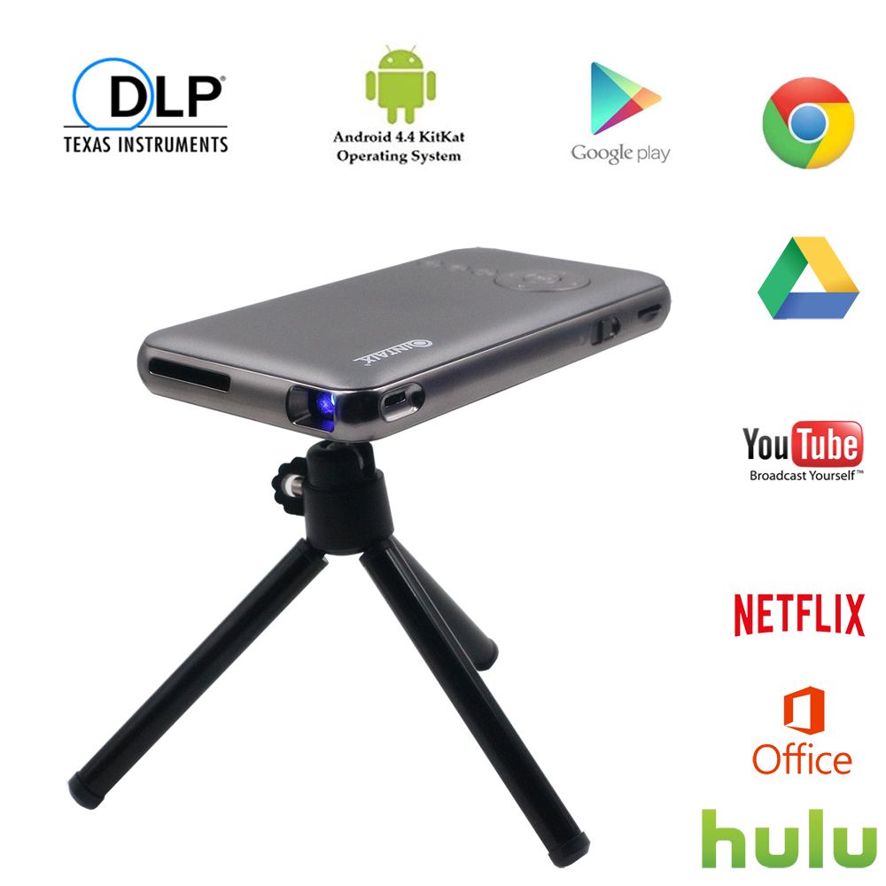 QINTAIX mini smart android projector Android 7 1 portable