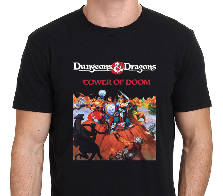 Dungeons & and Dragons Tower Of Doom Classic Game T-Shirt Size: S-to-XXL ...
