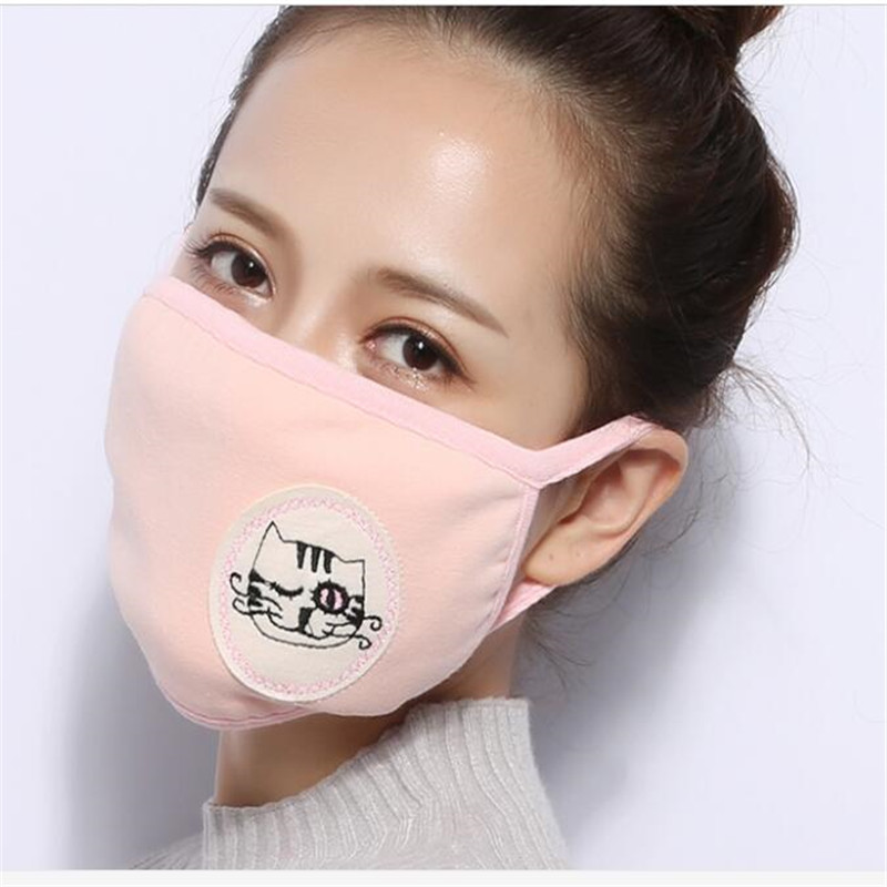 10pcs/Bags Dust Protection Mask Mask Bouche Homme Mond Doek Three-dimensional Cotton Dust Protection Mask Fashion Mouth Mask