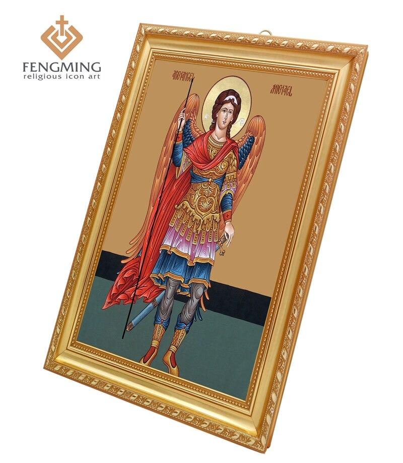 Mulheres Verdadeiras Molduras De Plástico Religiosa Bizantina Ícone Da  Sagrada Arcanjo Miguel Imagem Itme Para Venda Casa Do Vintage Decoração de  ... 79b70d637e