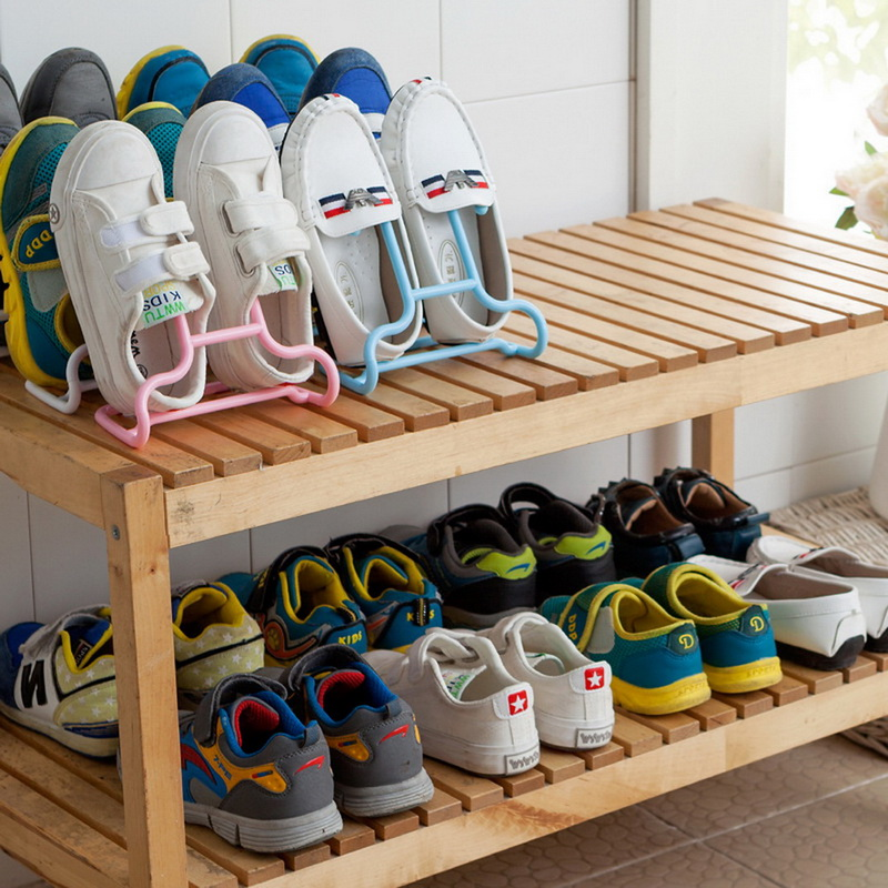 1pcs Creative Functions Shoe Rack One Can Stand The Balcony Shelf Children Plastic Hanger