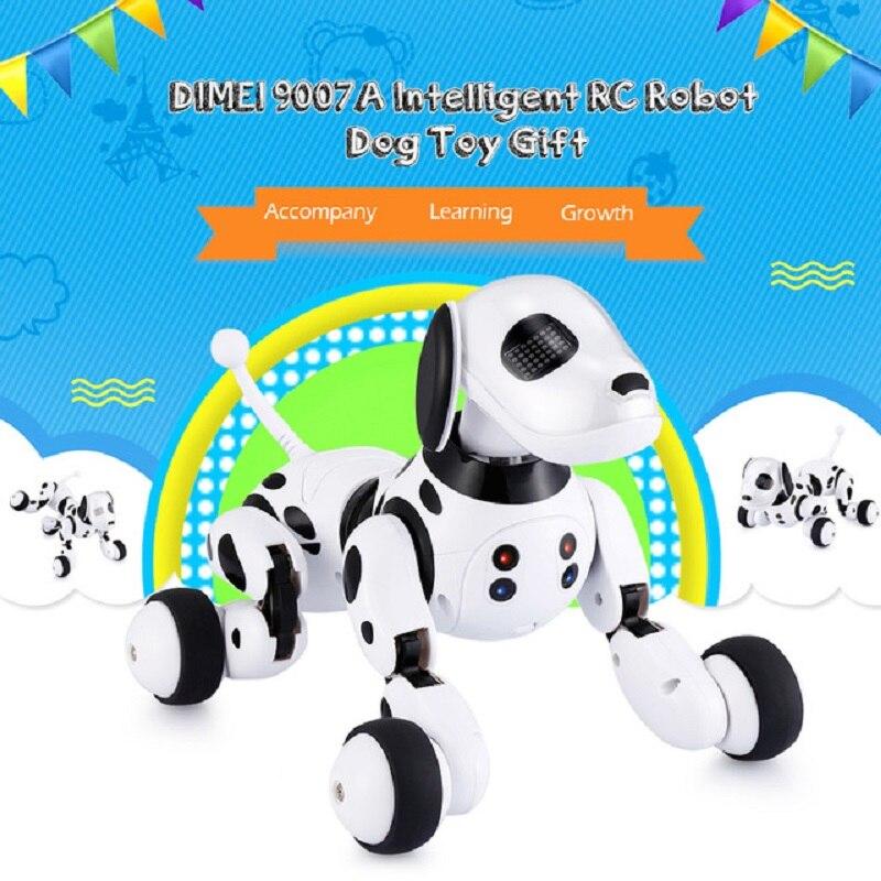 DIMEI 9007A Robot chien électronique Pet Intelligent chien Robot jouet 2.4G Intelligent sans fil parlant télécommande enfants cadeau pour anniversaire