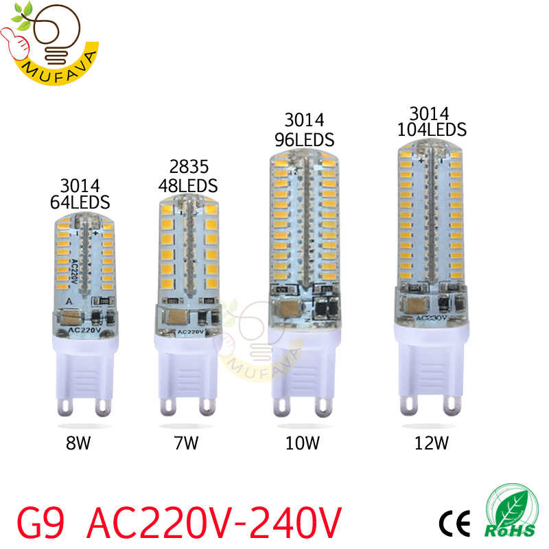 1PCS/Lot g4 led 12v lampada 3W 7W 8W 12W AC220V SMD3014 halogen Light 360 Beam Angle G4 led bulb Christmas light g9 led lamp