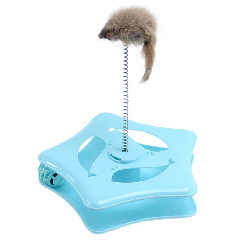 Cat Toys Funny Cat Turntable Cat Pet Toy Ball With Cute Mouse Pets Toys For Small Pet Toy For drop ship