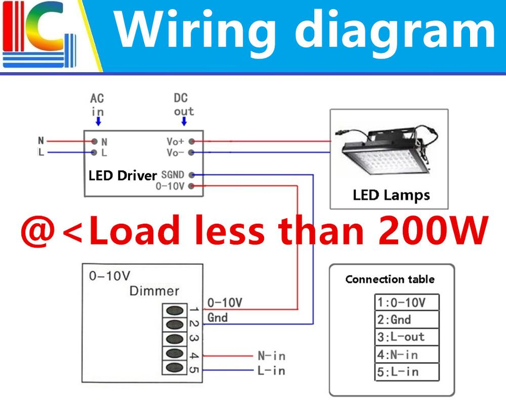0 1 10v Led Dimmer Pwm Dimmable Ac85 265v For Driver To 10 Volt Dimmers Wiring Diagram On Dimming Lc 85265 Dim 5
