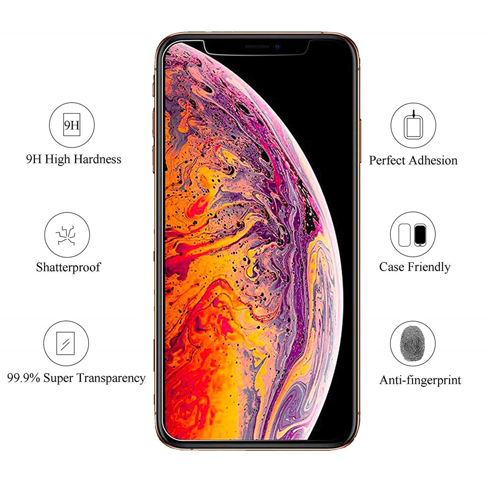 9H Tempered Glass For iPhone XS Max XR X 5c 5s 5se 4 4s Tough Protection Screen Protector Guard Film For iPhone X 10 6s 7 8 plus in Phone Screen Protectors from Cellphones Telecommunications