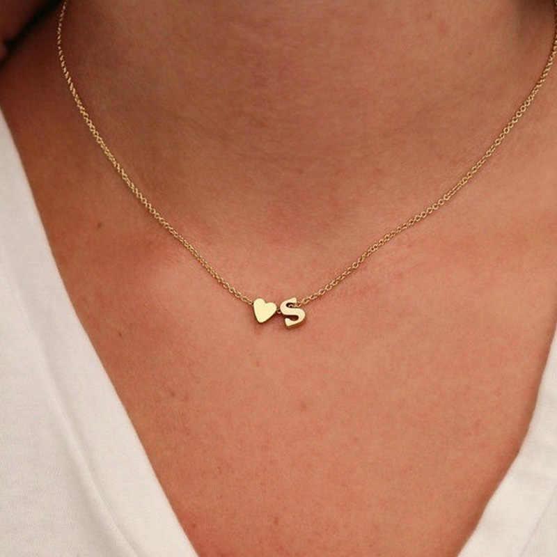 ขาย Dainty Heart สร้อยคอสร้อยคอชื่อเครื่องประดับสำหรับผู้หญิงอุปกรณ์เสริมแฟนของขวัญ