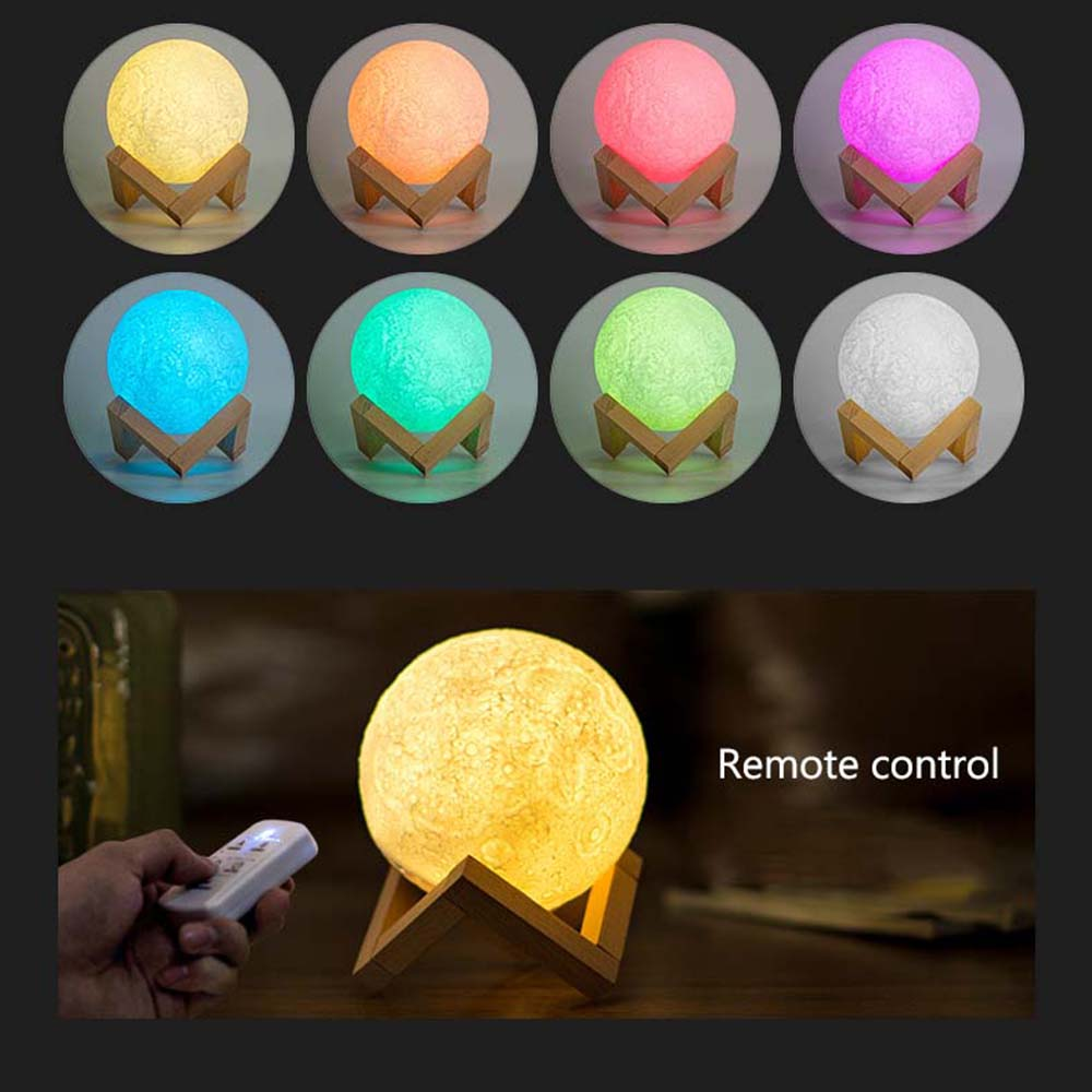 LED Night Light Moon Lamp 3D Print Moonlight Luna Touch Sensor Nightlight , Remote Control Moon Night Light Baby Gift Home Decor moon flac jeans