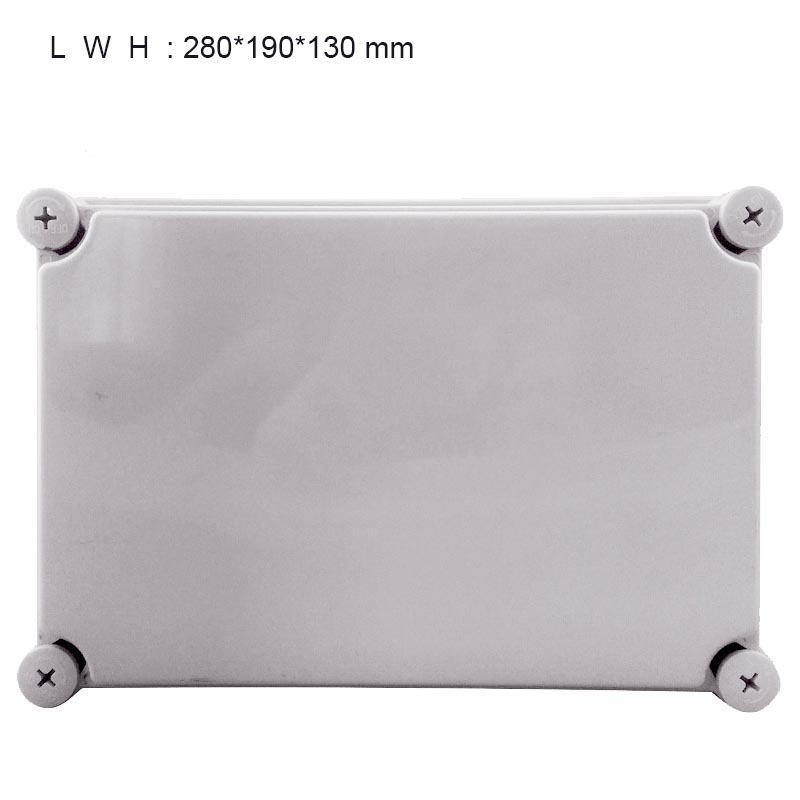 High Quality 280mm x 190mm x 130mm Waterproof Plastic Enclosure Junction Box Holde IP67 IK08 waterproof plastic enclosure case junction box 265mm x 185 mm x 115 mm l15