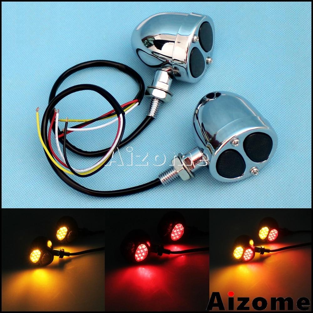 Motorcycle Rear 3 In 1 LED LED Rear Turn Signal Brake Indicator Tail Light Lamp