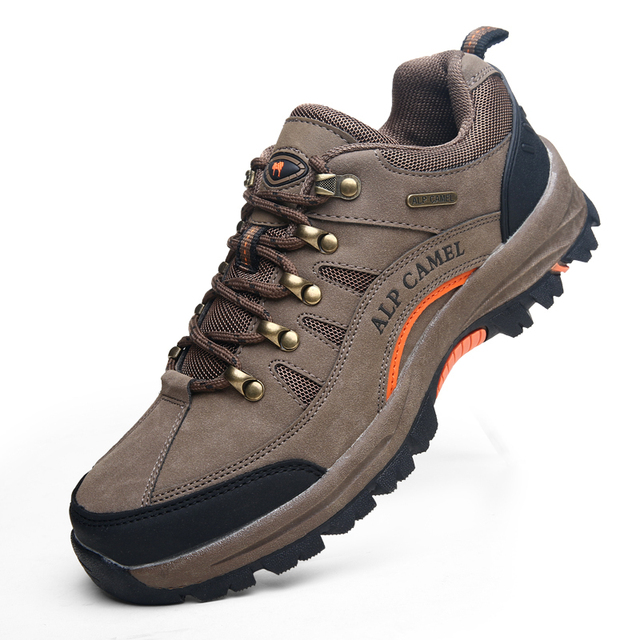 2015 Men'S New Autumn Fashion Slip-Resistant Wear-Resistant Outdoor Hiking Shoes Male Brand Shoes Genuine Leather Camping Boots