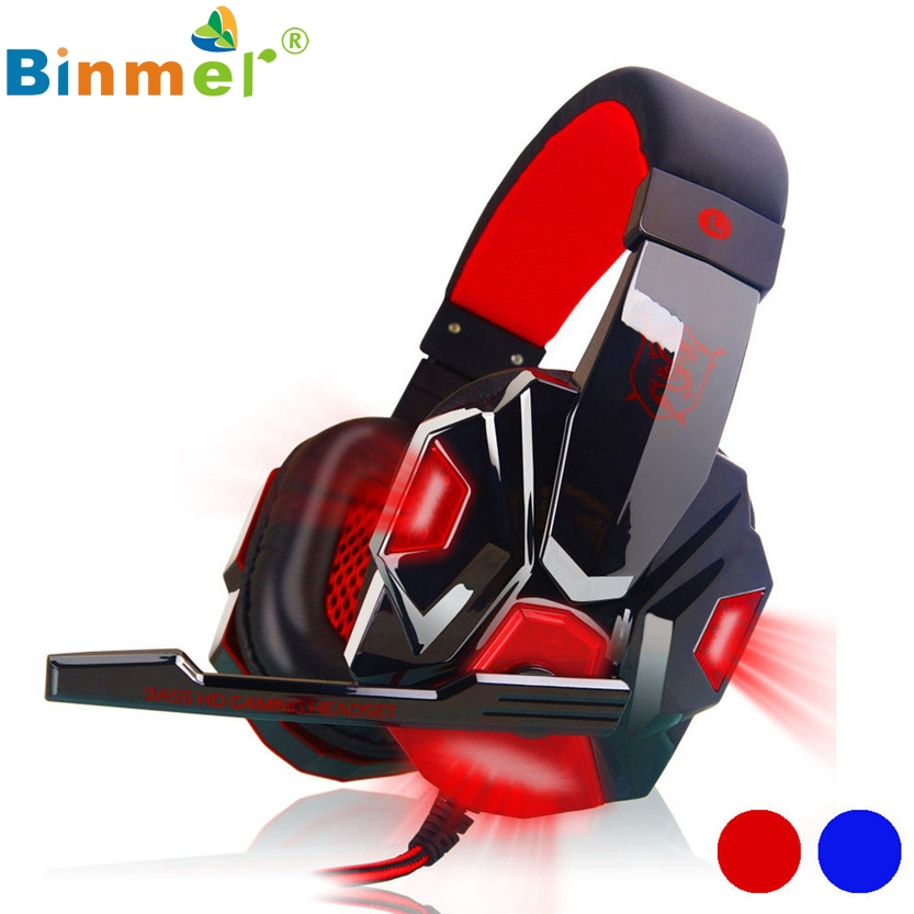 Surround Stereo Gaming Headset Headband Headphone USB 3.5mm LED with Mic for PC SZ1223
