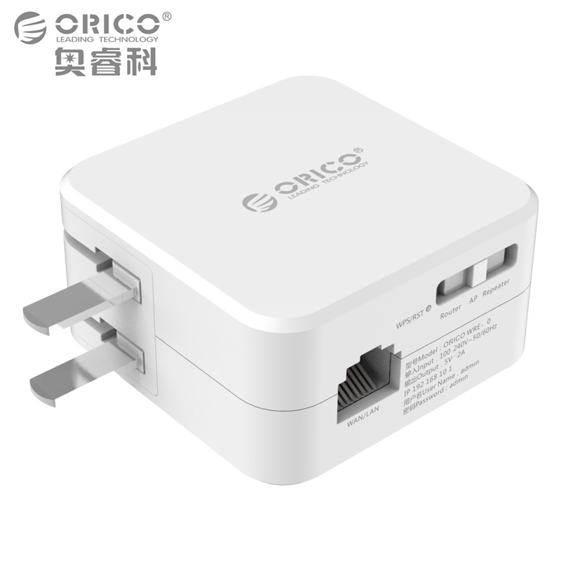 Orico universal wireless range extender 300m wifi repeater with 5v2a usb charging port blue - Wifi repeater with usb port ...