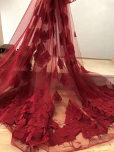 2019 Latest African Lace Fabric feather lace heavy beaded fabric handmade 3D flowers pearls wedding dress MO19