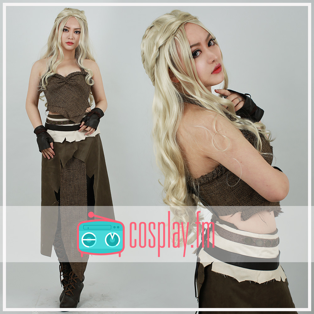 Game of Thrones A Song of Ice And Fire Daenerys Targaryen Brown Cosplay Cosutme game of thrones a song of ice and fire 1 1 resin shield bar decoration cosplay props action figure collectible model toy w290