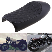 Universal Black Motorcycle Cafe Racer Seat Scrambler Vintage Hump Retro Seat For Honda Yamaha Suzuki Kawasaki Etc Leatherette