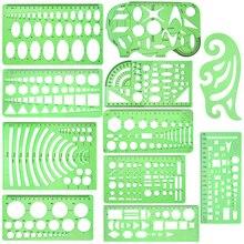11 шт. чертежи шаблоны линейки учитесь в школе практическая измерительная многофункциональная широкое использование математические геометрические трафареты набор офис
