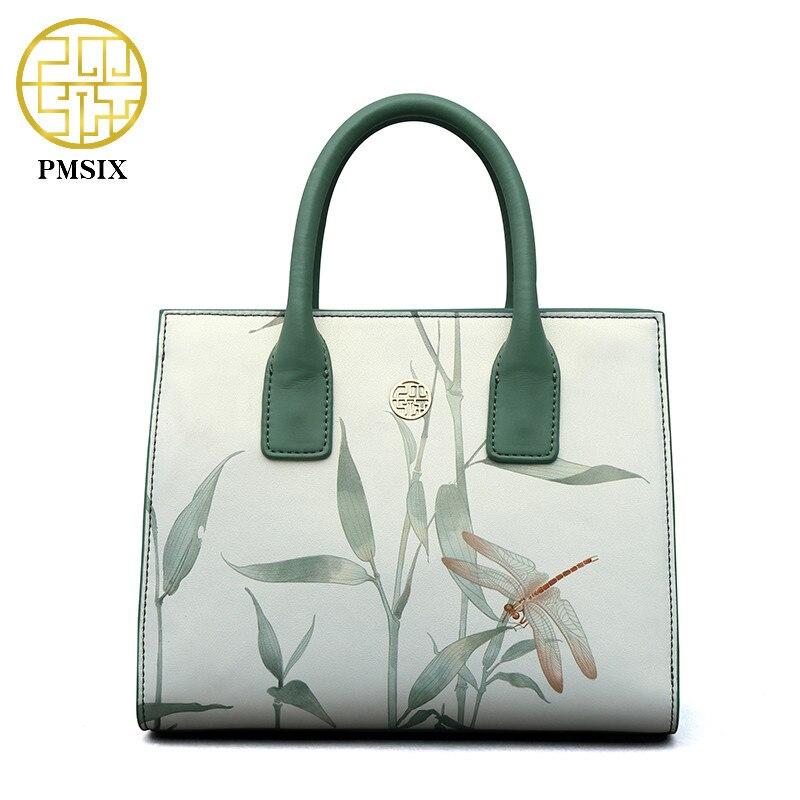 PMSIX marke 2019 mode frauen handtasche Tier gedruckt Platz Paket portfolio für frauen MINI licht Grün elegante schulter taschen-in Taschen mit Griff oben aus Gepäck & Taschen bei  Gruppe 1