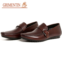 GRIMENTIN Summer New 2017 Fashion High Quality Men Loafers Shoes Genuine Leather Luxury Designer Mens Casual