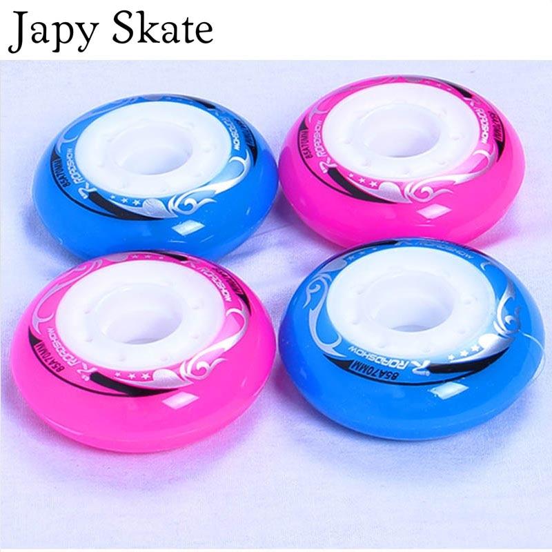 Prix pour Jus japy Skate Enfant Skate Roues 82A 62 64 68 70mm Slalom Roller Skating Roues Rouleau Coulissant Coulissantes Roues Livraison gratuite
