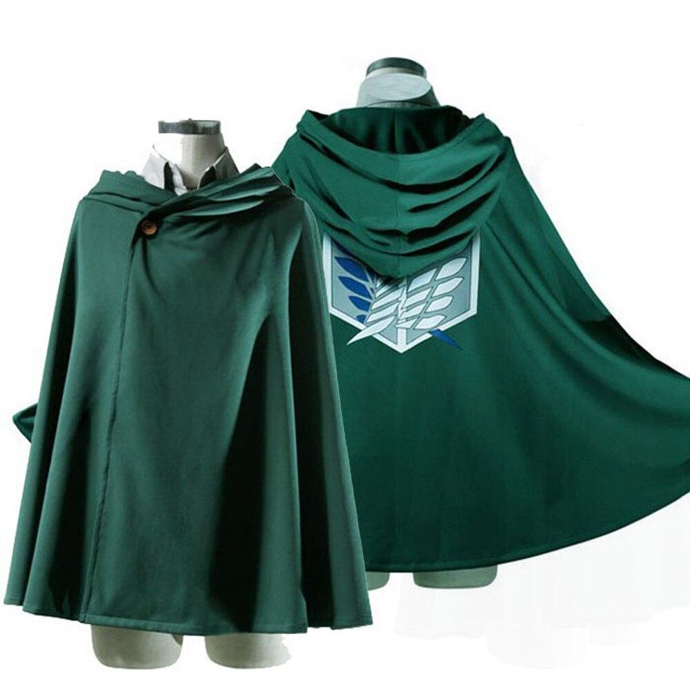 Anime Angriff Auf Titan Kostüm Grünen Mantel Shingeki Keine Kyojin Cosplay Halloween Kostüm Hoodie Eren Levi Mikasa Scout Legion Mantel