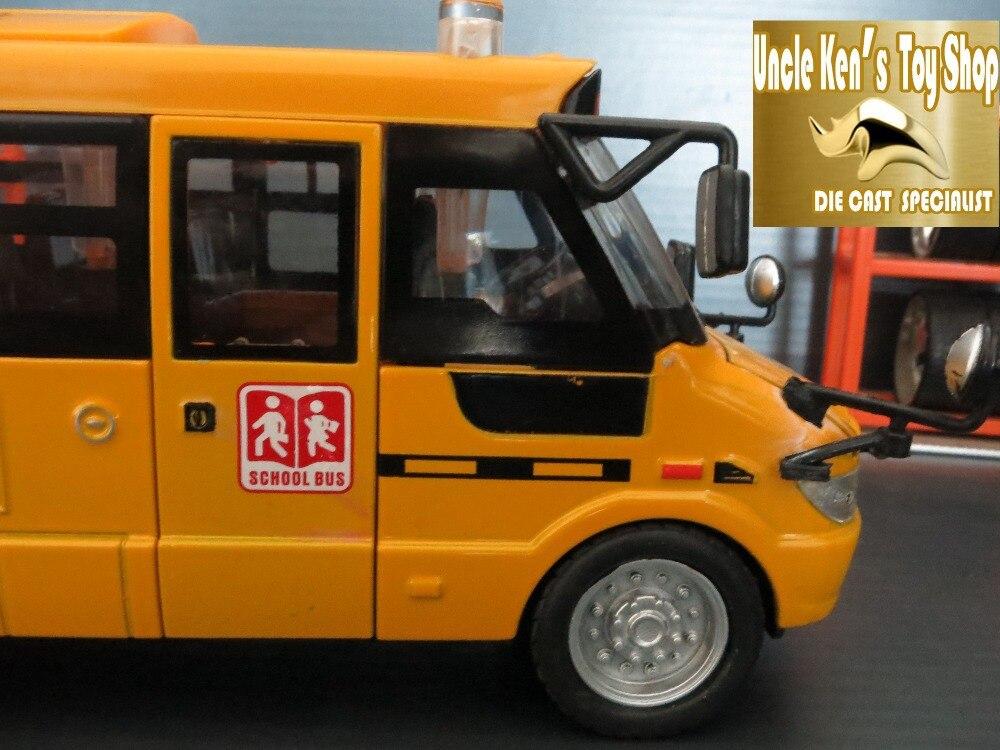 Diecast Schoolbusmodel, 22cm metalen speelgoed, merklegering auto - Auto's en voertuigen - Foto 6