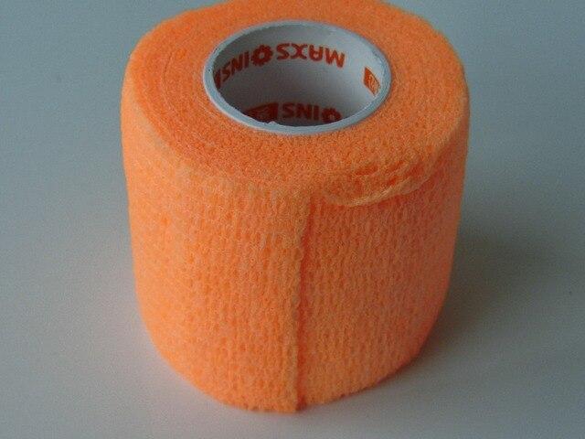 12Pcs 5cm x 4.5m Non woven Bandage Self Adhesive elastic Cohesive wrap tape Fluorescent Orange