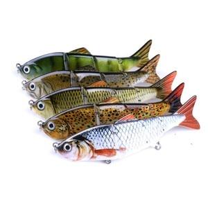 Image 3 - Hard Fishing Lures 12CM 16.8G Multi Jointed 3D Eyes Lure 8 Segment Hard Lure Crankbait With 6# hook Fishing Baits ST