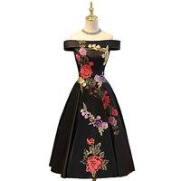 Suosikki boat neck tea length evening dress 2017 new appliques stain formal prom gowns bestido de.jpg 200x200