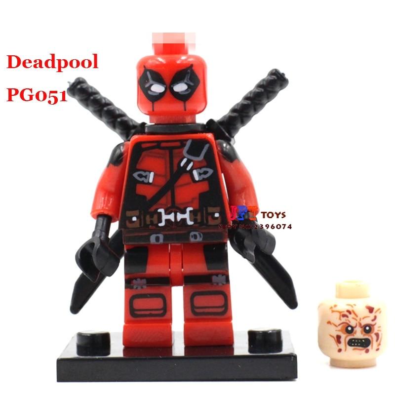 50pcs superhero Armed Deadpool Comics building blocks bricks friends for girl boy kids children toys brinquedos