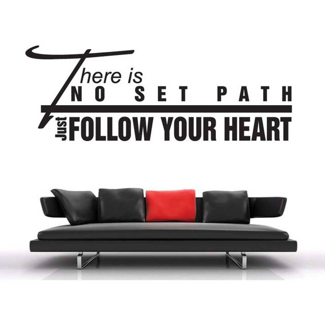 Diy There Is No Set Path Quotes Wall Sticker Sofa Background Living