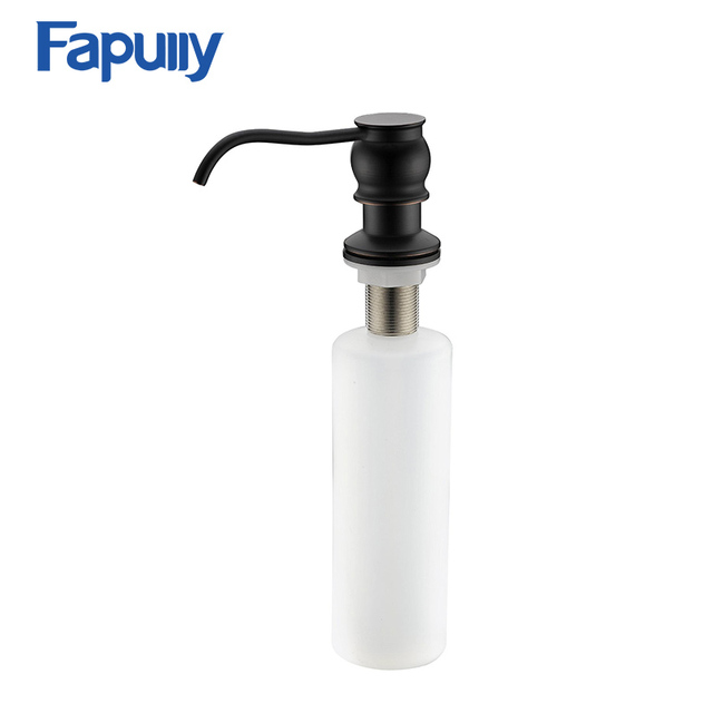 Fapully Kitchen Sink Countertop Soap Dispenser Deck Mount Hand Oil Rubbed  Bronze Black Deck Soap Dispensers