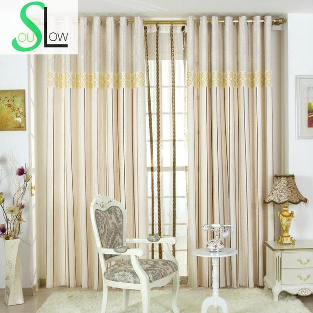 Special Offer Curtain Blue Gold Silk Jacquard Gradient Cloth Blackout  Curtains For Bedroom Living Room Modern