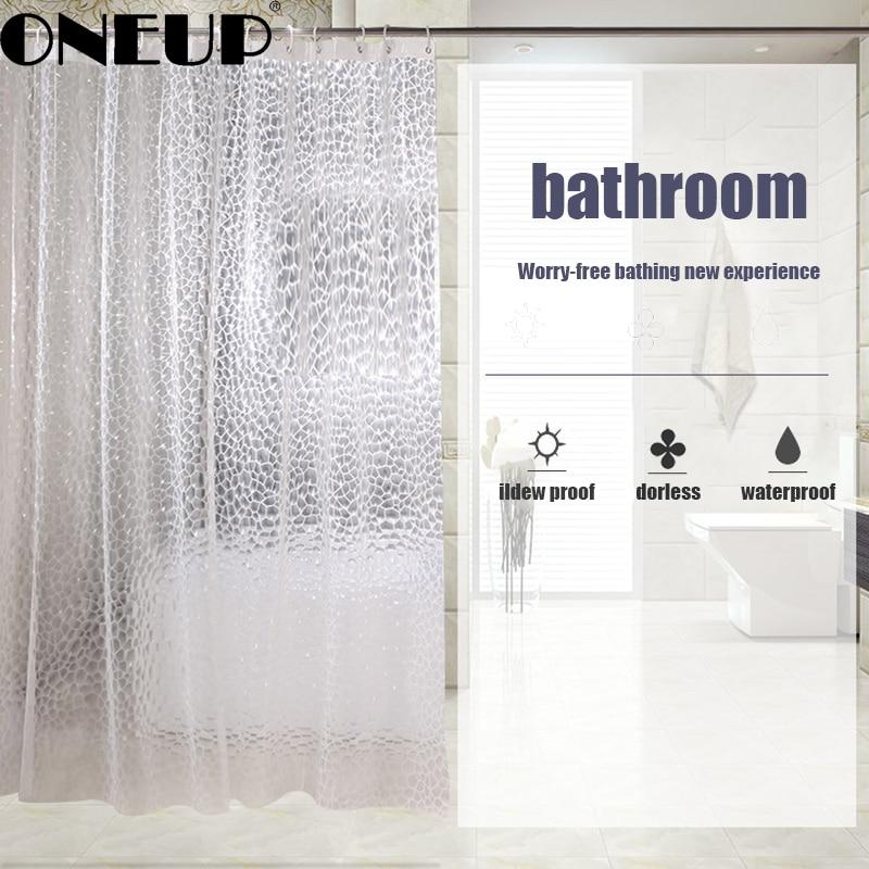 plastic waterproof shower curtain