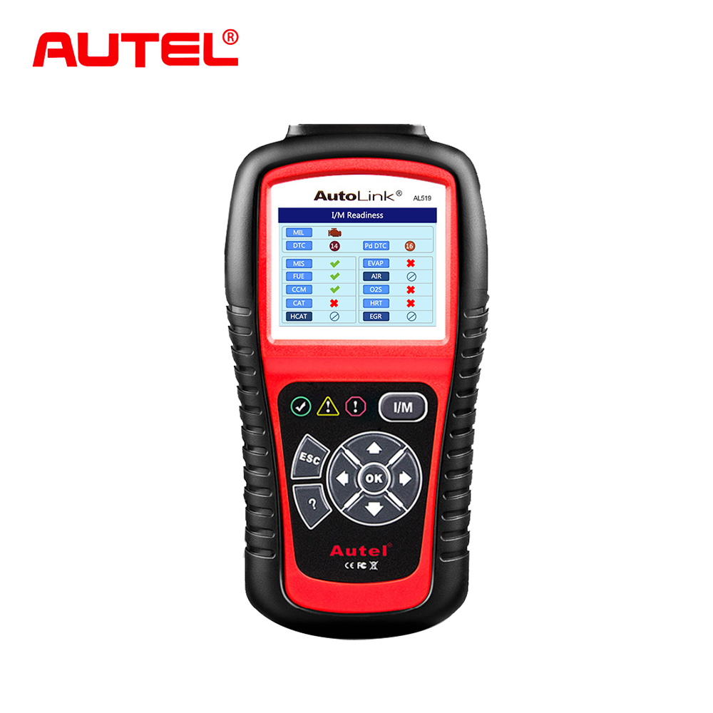 Autel AutoLink AL519 Auto Car Diagnostic Tool OBD2 OBDII Scanner Car Fault Code Reader OBD2 CAN Code Reader Scanner free Upgrade мультиварка ves sk a19