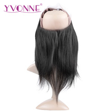 YVONNE 360 Lace Frontal Brazilian Straight Virgin Hair 12″-16″ Natural Color 100% Human Hair With Adjustment