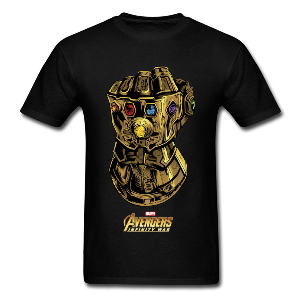 Gauntlet Like A Glove   T     Shirts   Men   T  -  shirt   High Quality Avengers Tee Father Day Short Sleeve Tops 100% Cotton Thanos Clothing