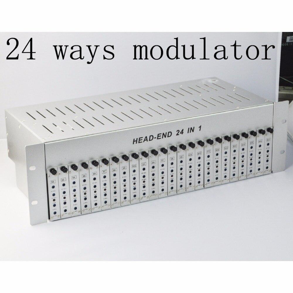 SK-24M 24 в 1 catv headend прилегающий модулятор CATV модулятор для отеля/школы/общежития RF catv модулятор