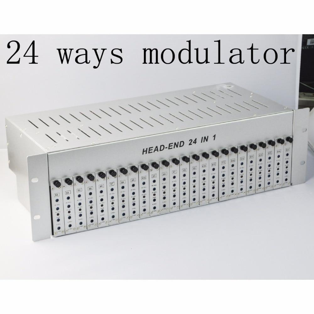 SK-24M 24 in 1 catv headend adjacent modulator CATV modulator for hotel/school/dormitory RF catv modulator