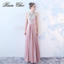 Evening Dress Long Sexy Women Elegant Floor-length Formal Wedding Party Prom Gown 2018 Robe De Soiree