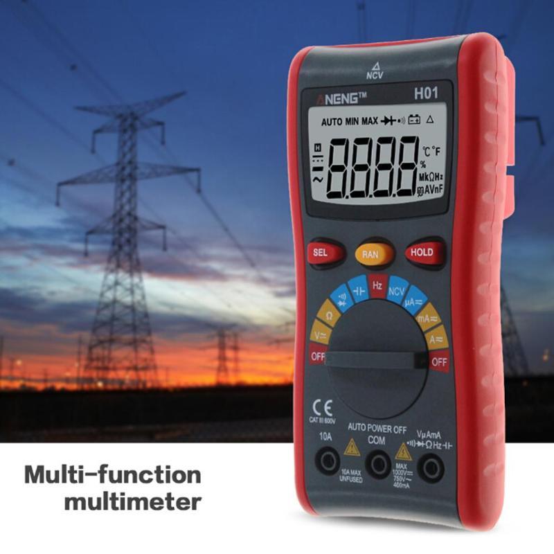 H01 4000 Comtes Auto Gamme Multimètre Numérique Rétro-Éclairage AC/DC Ampèremètre Voltmètre Ohm Portable Fil test Compteur Multimètres