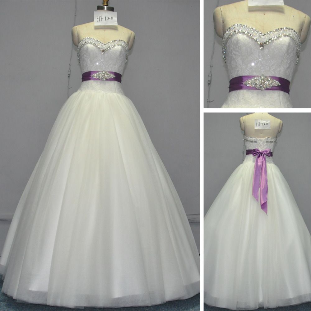 Wr012 alibaba crystal rhinestone belt for purple and ivory for Purple and ivory wedding dress