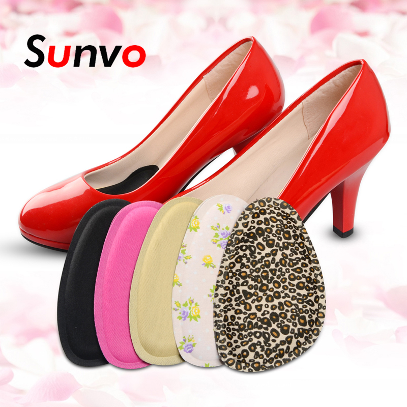 Sunvo 4D Sponge Forefoot Pads For Women Sandals High Heels Shoes Anti-slip Cushion Half Yard Insert Pad Foot Care Front Insoles