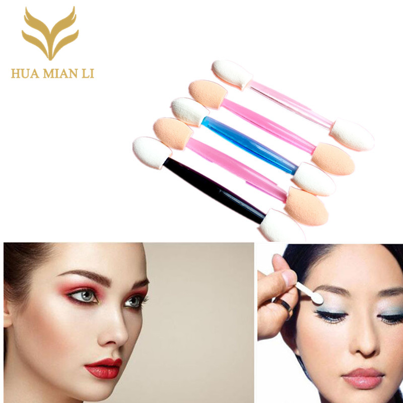 10pcs/set Makeup Double-end Eye Shadow Eyeliner Sponge Brush Applicator Tool for Women Beauty sombras de ojos Cosmetic