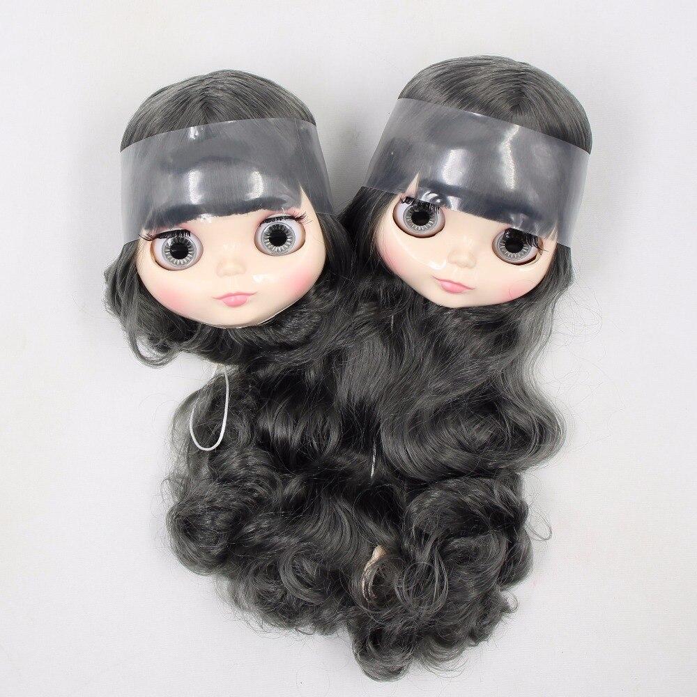 Fabbrica blyth testa solo, senza corpo, a breve/lungo grigio dei capelli BL9016-in Accessori per bambole da Giocattoli e hobby su  Gruppo 2