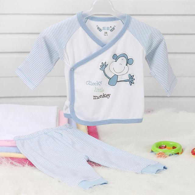 LeJIn Roupas Das Meninas Dos Meninos Do Bebê Set Casual Wear Bebê Recém-nascido Primavera Outono em 100% Algodão de Malha