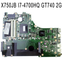 Original Laptop Motherboard For ASUS X750JB Rev2 1 System Board With I7 CPU Onboard DDR3 GT750M