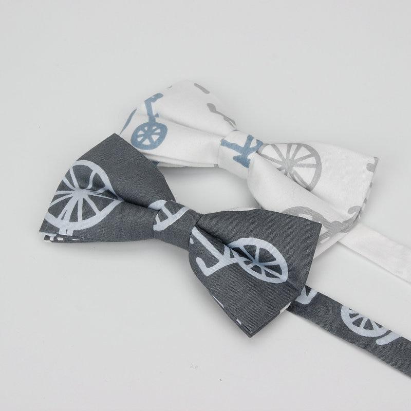 New Style Men's Vintage Bike Print Cotton Neck Bow Tie Butterfly For Man Cute Bowtie Tuxedo Wedding School Bows Party Corbatas